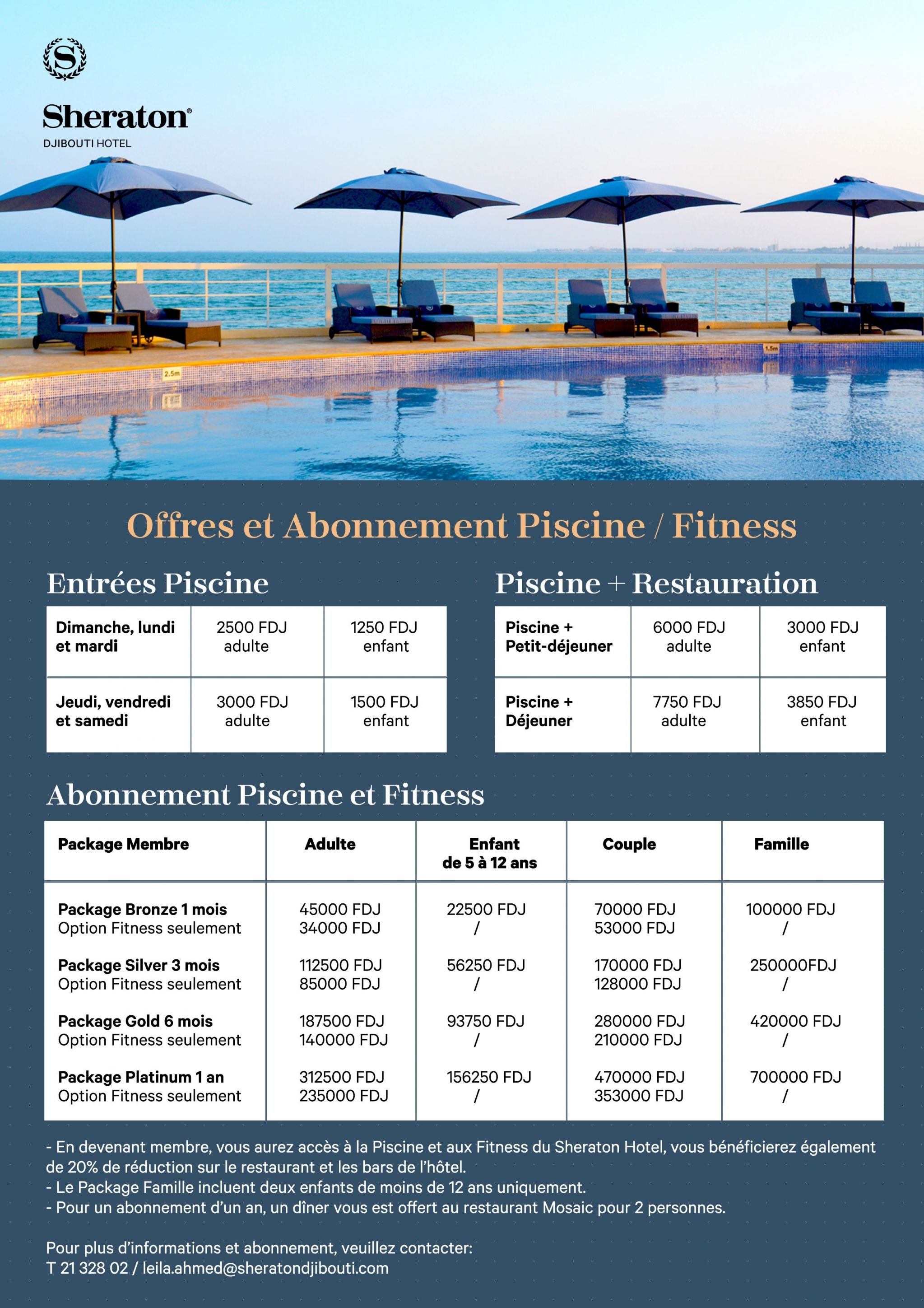 Sheraton Djibouti Hotel and Restaurant Events and Offers